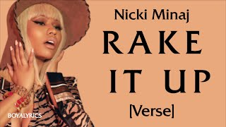 Nicki Minaj - Rake It Up [Verse - Lyrics] cut the check, buss it down, smugglebrickstochina- tiktok