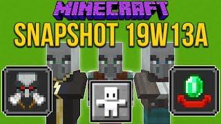 Minecraft 1.14 Snapshot 19w13a Hero Of The Village! Raids Changed!