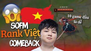 """Bất ngờ SofM """"Thánh Lướt"""" trở lại rank Việt với Yone 😲 Quẩy Nát Team Bạn"""
