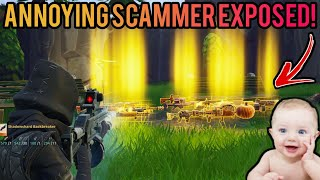 Annoying Kid Loses 106 Weapons! (Scammer Gets Scammed) Fortnite Save The World