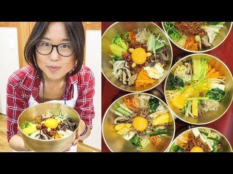 Making Bibimbap in Jeonju ♦ Cooking Lesson in South Korea