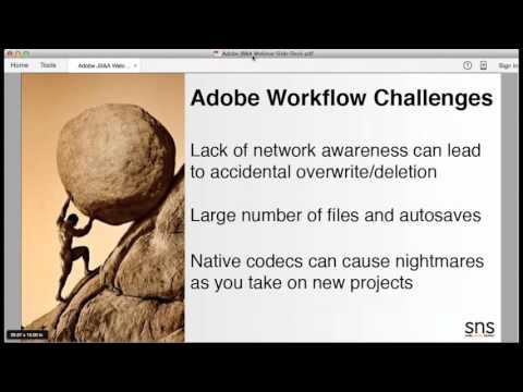 Adobe Premiere Workflow Demo with SNS EVO Shared Storage