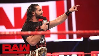 """Seth Rollins vows to turn Dean Ambrose's life into a """"living hell"""": Raw, Oct. 29, 2018"""