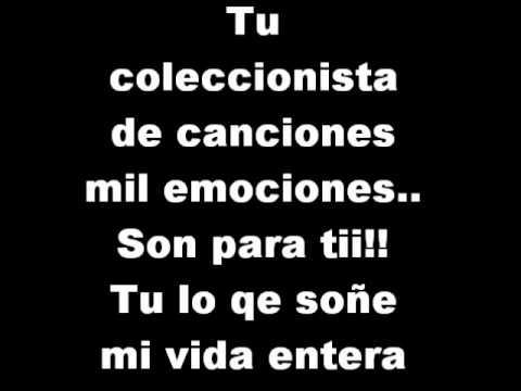 Coleccionista de canciones - Camila (Letra)