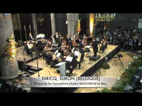 DIRICQ, SIMON (BELGIQUE) Rhapsodie for Saxophone part 1