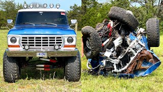 Destroying an F250 in 10 minutes flat.