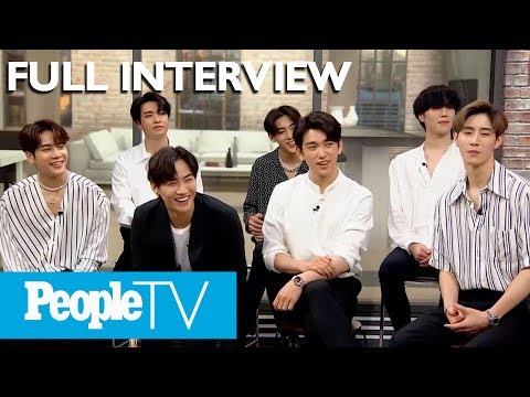 K-Pop Group GOT7 Reveal Fan Stories, Surprise Facts & Play 'Confess Sesh' In Interview | PeopleTV