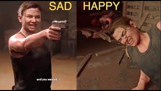 Ellie Kills Abby Vs Abby Kills Ellie Last Of Us 2 Alternate Ending