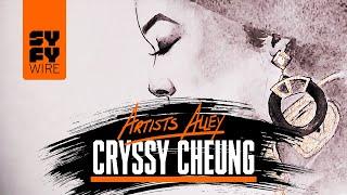 Black Panther's Ramonda/Angela Bassett painted by Cryssy Cheung   SYFY WIRE