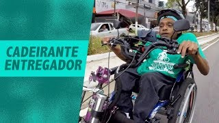 Bikers Rio Pardo   Vídeos   Cadeirante circula pelas ruas de SP fazendo entregas