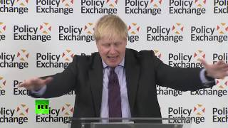 LIVE: Boris Johnson kicks off first of Tories 'road to Brexit' speeches