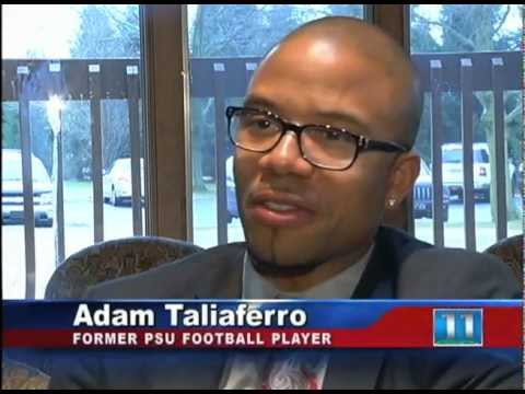 Adam Taliaferro Visits Schreiber Pediatric - YouTube
