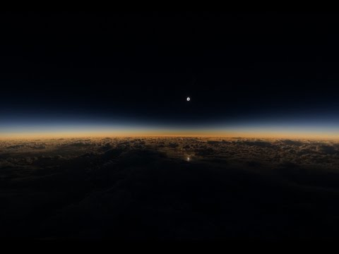 Video of March 2016 total solar eclipse as seen from Alaska Airlines flight 870. Video: Mike Kentrianakis / AAS