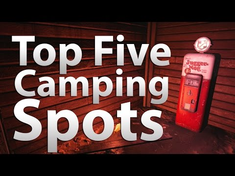 'TOP 5' Camping Spots in 'Call of Duty Zombies' - 'Black Ops 2 Zombies', Black Ops & World at War