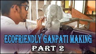 ECO FRIENDLY GANPATI MAKING AT HOME BY RECYCLING CLAY (PART 1) - KP TOWN