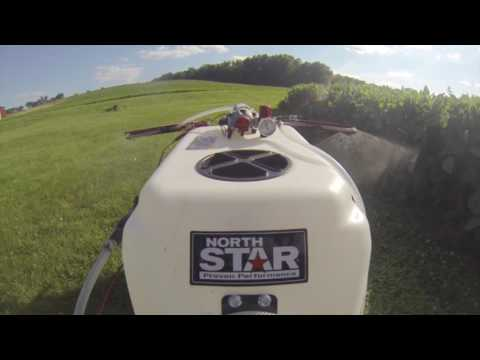 NorthStar Tow-Behind Boom Broadcast and Spot Sprayer - 31-Gallon Capacity, 2.2 GPM, 12 Volt DC