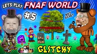 Lets Play FNAF WORLD #5: Graveyard Gets Glitchy w/ FGTEEV Duddy & Chase (NEW AREAS UNLOCKED)