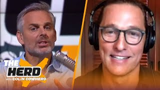 Matthew McConaughey on Texas Football, preparing for movie roles, new book 'Greenlights' | THE HERD