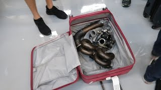 We Brought a full TURBO KIT on the Plane in Suitcases!