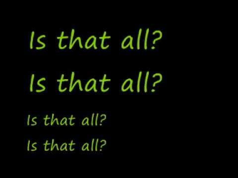 U2-Is That All? (Lyrics)