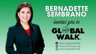 Bernadette Sembrano for ANCOP Global Walk 2019