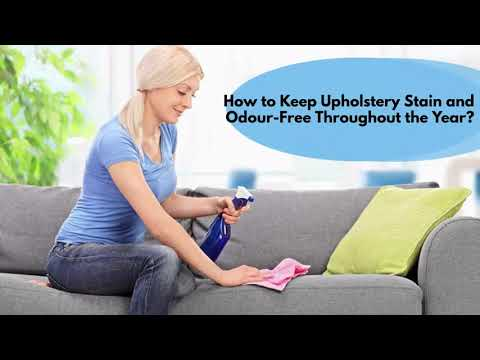 Helpful Ways to Keep Upholstery Stain and Odour-Free Throughout the Year