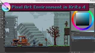 Pixel Art Post Apocalypse Environment Painting For Scatteria
