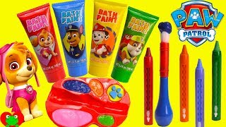 Best Learning Video with Paw Patrol Paints Chase, Marshall, Skye