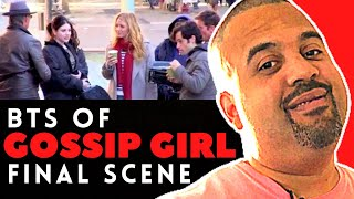 The Whole Cast of the Gossip Girls filming their final scene's at the Museum Of Art in NYC