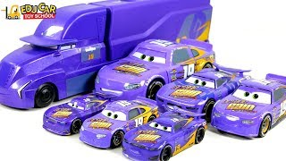 Learning Color and purple color Disney Cars Lightning McQueen Mack Truck Play for kids car toys