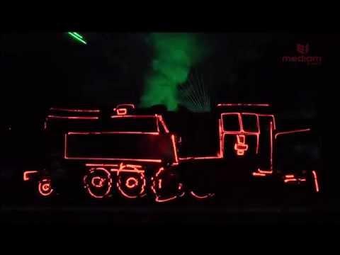 Mapping laserowy LATO Z PAROWOZAMI PAROWOZJADA Chabówka 2015 LASERY INFO