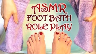 ASMR Foot Bath & Massage Role Play Esthetician Spa Visit Binaural Ear to Ear Water Sounds