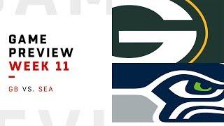 Green Bay Packers vs. Seattle Seahawks   Week 11 Game Preview   NFL Playbook