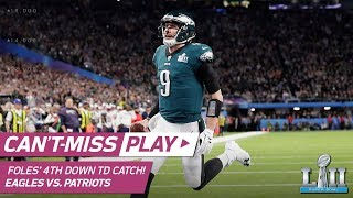 Nick Foles Catches TD Pass on INSANE 4th Down Trick Play! | Can't-Miss Play | Super Bowl LII