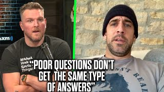 """Aaron Rodgers Tells Pat McAfee About His """"Bad Mood"""" With Reporters On Zoom"""