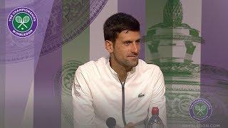 Novak Djokovic Fourth Round Press Conference Wimbledon 2019