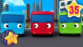 Learn How To Count 10 Little Buses | Fun Learning with #LittleBabyBum | NurseryRhymes for Kids