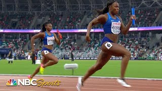 USA women take on Europe in 4x100 meter relay | NBC Sports