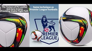 Galaxy Size 5 Official Pu Laminated Football Thread less Seam Beveled Edge Soccer Ball