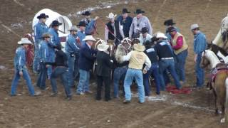 Chuck Wagon Race Accident - Houston Rodeo 3/20/17