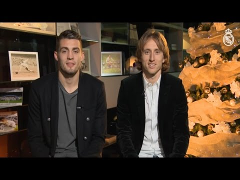 Merry Christmas from Modric and Kovacic!