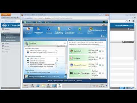 SBS 2011 Bereitstellung, Installation und Konfiguration auf ICT-Cloud.com