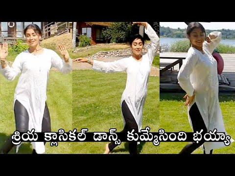 Shriya Saran classical dance video; her Russian husband also follows her on a hilarious note