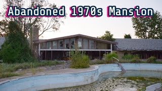 Abandoned 70s Mansion w/ huge outside pool & indoor pool/bar area -#71