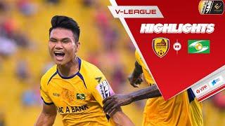 Highlights   Quảng Nam -  SLNA   Đôi công hấp dẫn, hạ màn V.League   VPF Media
