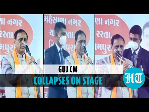 Gujarat CM faints on stage during rally, PM Modi calls to check on him