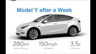 The Model Y After a Week Thoughts