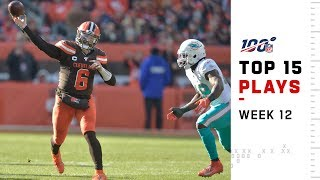 Top 15 Plays from Week 12   NFL 2019 Highlights