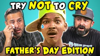 Dads React To Try Not To Cry Challenge (Father's Day)