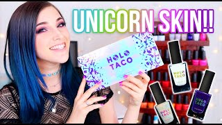 NEW Holo Taco Unicorn Skin Collection Review (Simply Nailogical's Brand!) || KELLI MARISSA